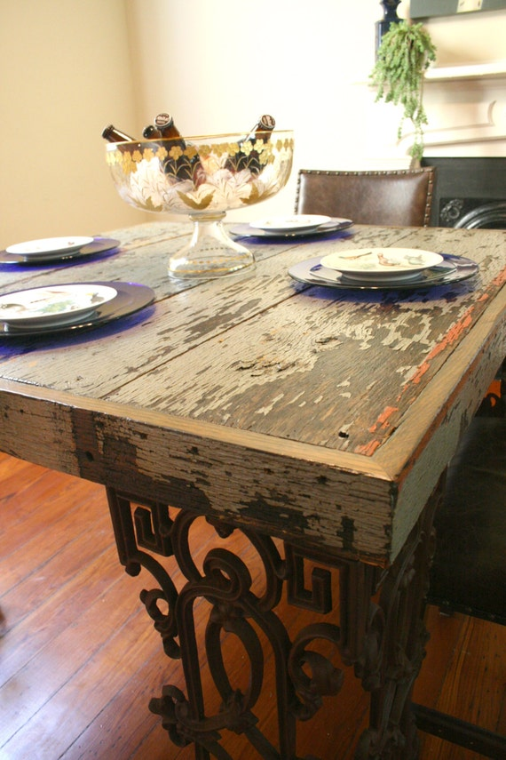 New Orleans Dining Room Table Made From Reclaimed Wood and : il570xN456543923nnhu from www.etsy.com size 570 x 855 jpeg 127kB