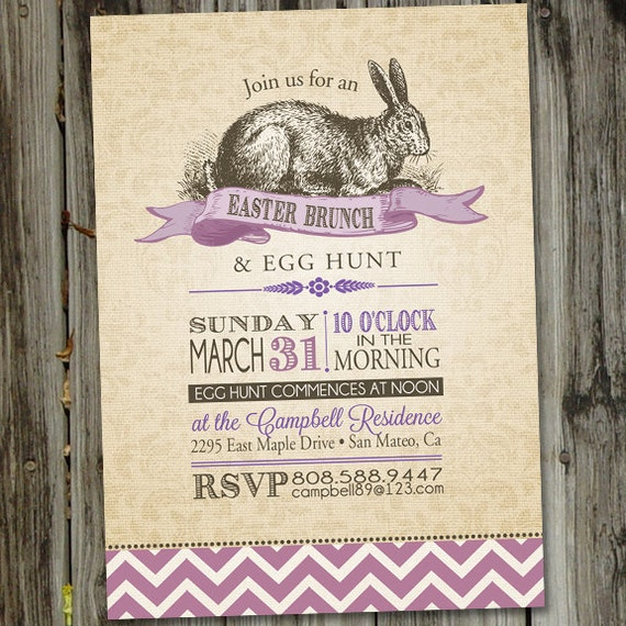 Vintage Easter Brunch Invitation