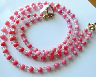 Pink heart Necklace 392