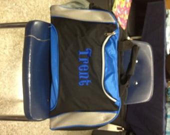 Gym Bag Gift for Groomsmen Personalized Custom Monogrammed Duffel Bag Gym School Dance Tote Cheer Gymnastics Embroidered Large Bag