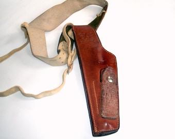 Vintage Leather Gun Pistol Holster Monrovia 101