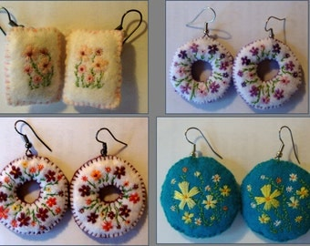 Embroided earings
