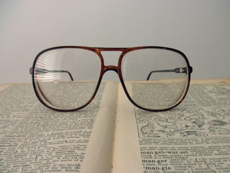 Large Silhouette Tortoise Shell Eyeglass Frames By