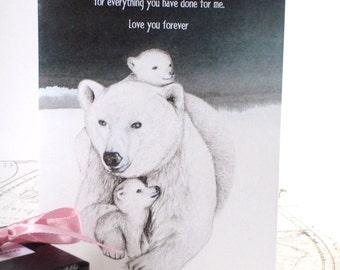 Mother Birthday Card (English) - Printable PDF Happy Birthday Card, Mother's Day Card, Thank you Card