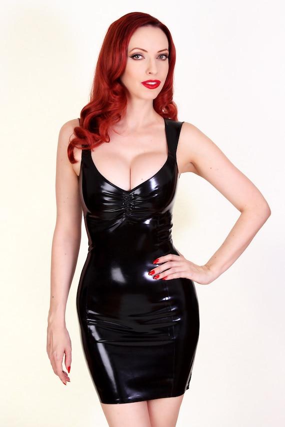 Model wearing Latex dress
