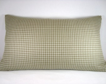 12X20  Decorative Houndstooth Modern Accent Lumbar Pillow/Fern