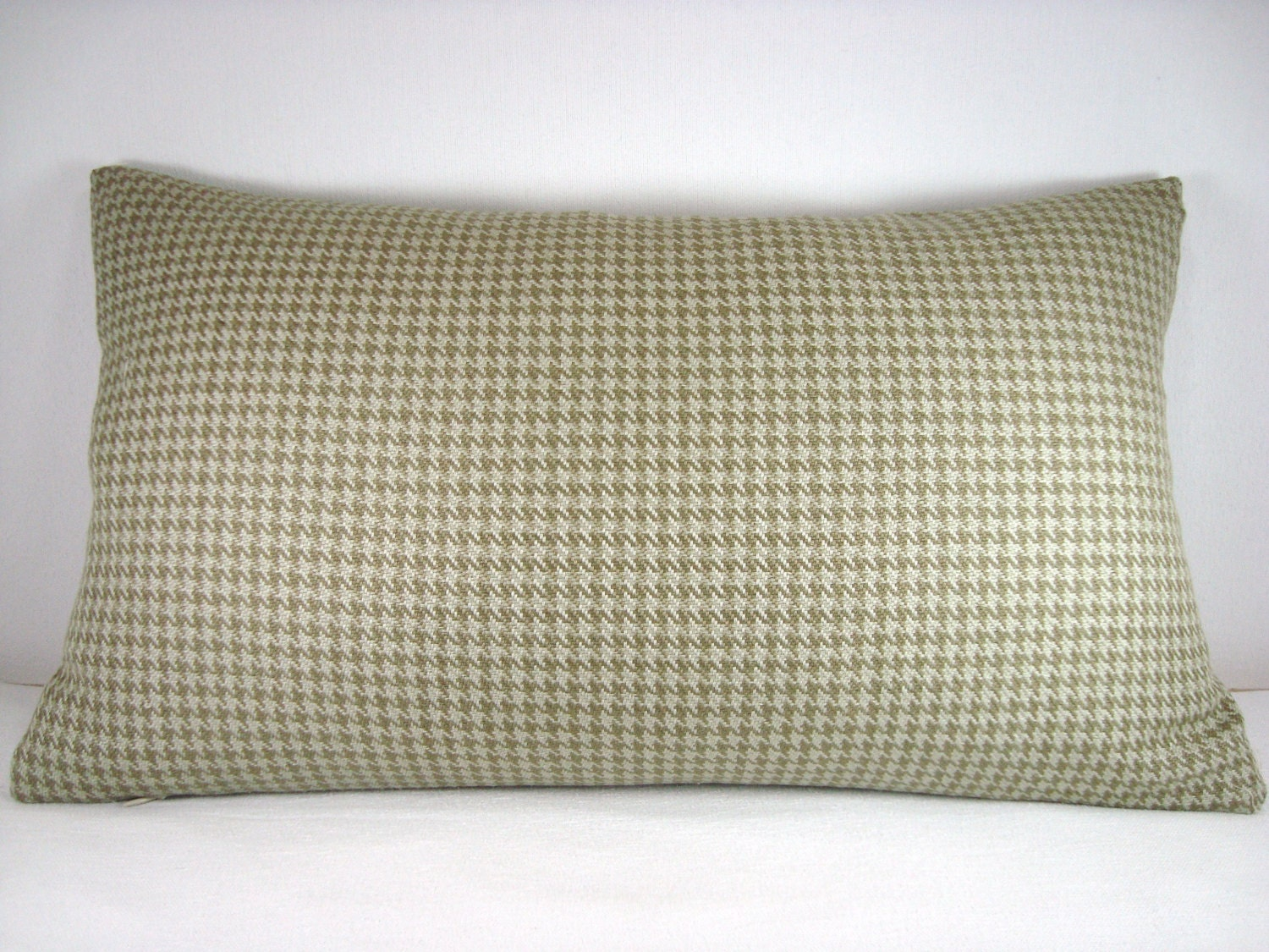 Modern Lumbar Pillows : 12X20 Decorative Houndstooth Modern Accent Lumbar Pillow/Fern