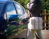 Slim Messenger Bag with shoulder strap - fabric satchel for Tablet, eReader etc.