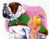 English Bulldog and Pekingese Dog Illustrations Tibor Gergely Vintage Childrens Book Mid Century Dog Art