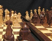 Chess Set Firefighter's Chess Set on etsy handmade custom chess sets chess boards chess pieces