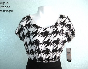 Vintage 90s B&W Body Con Mini New with Tags