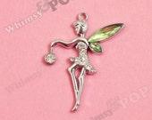 1 - LIttle Green Fairy Pendant Style Charm (3-4E)