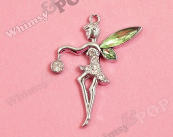 1 - LIttle Green Fairy Pendant Style Charm (3-4E)