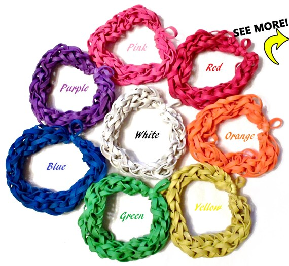 Items similar to Customize Your Own Rubber Band Bracelet ...