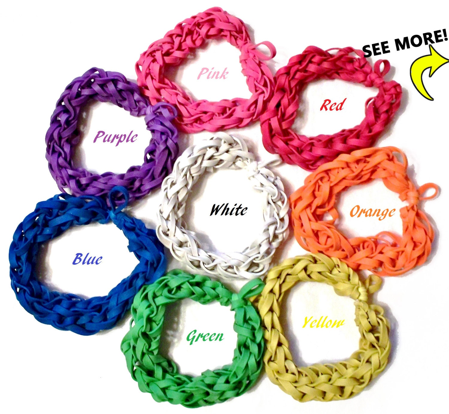 Customize Your Own Rubber Band Bracelet Bungle Bands