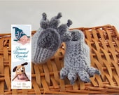 "Wolf Paw Baby Booties - 4"" foot - 3 - 6 Month Babies - In Stock Ready To Ship"