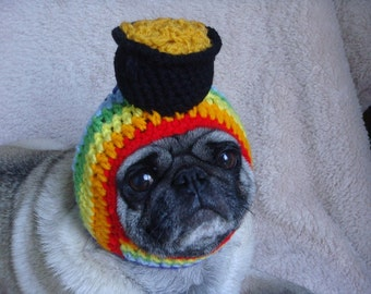 Pot of Gold Rainbow Hat / Dog Hat / Made To Order