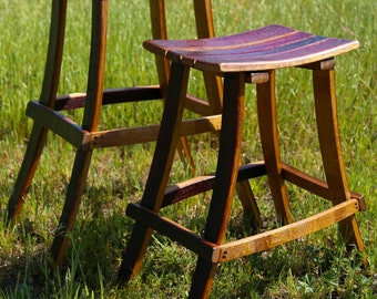 Wine Barrel Bar Stools- Special Price