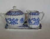 Vintage Rossblau China Blau (blue) Creamer/Sugar/Tray