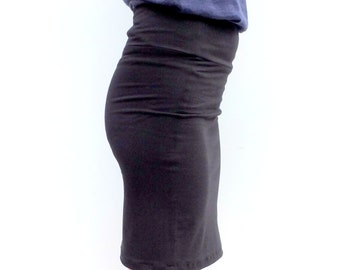 Organic High Waisted Pencil Skirt