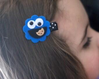 Cookie Monster Hair Clip