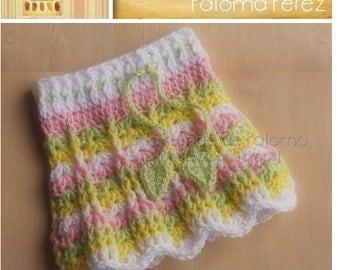 INSTANT DOWNLOAD - Primavera Skirt Pattern - Crochet Baby Skirt Pattern - Baby skirt crochet pattern