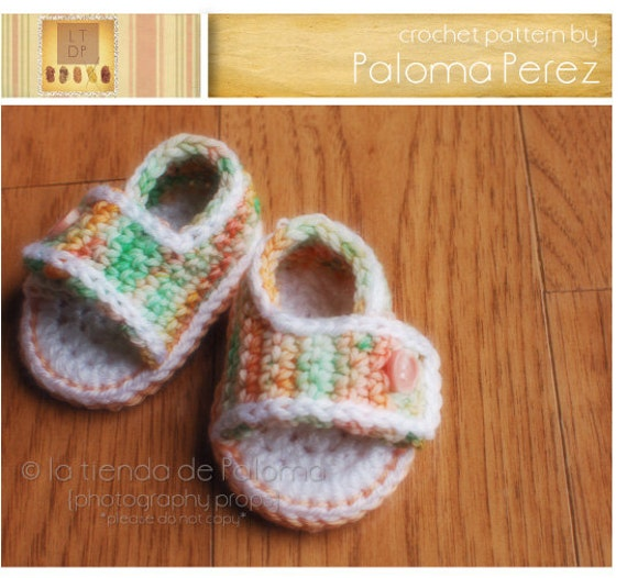 INSTANT DOWNLOAD - Crochet Baby Summer Sandals - Crochet sandals - Crochet pattern