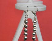 Round Beads Dangling Earrings