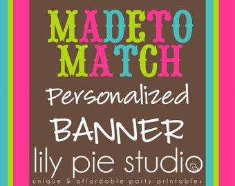 Custom Banner  Made to Match any invitation design from LilyPieStudio