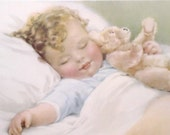 Reserved HAPPY DREAMS Print by Bessie Pease Gutmann / 11 X 14 / 1985 Litho In Usa / Portal Publications, Ltd. / Framed
