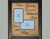 Today A Groom / Personalized Picture Frame / Wedding Gift for Parents /  Custom Wedding Gift / Christmas Gift