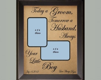Today A Groom Personalized Picture Frame Wedding Gift For Parents Custom Christmas