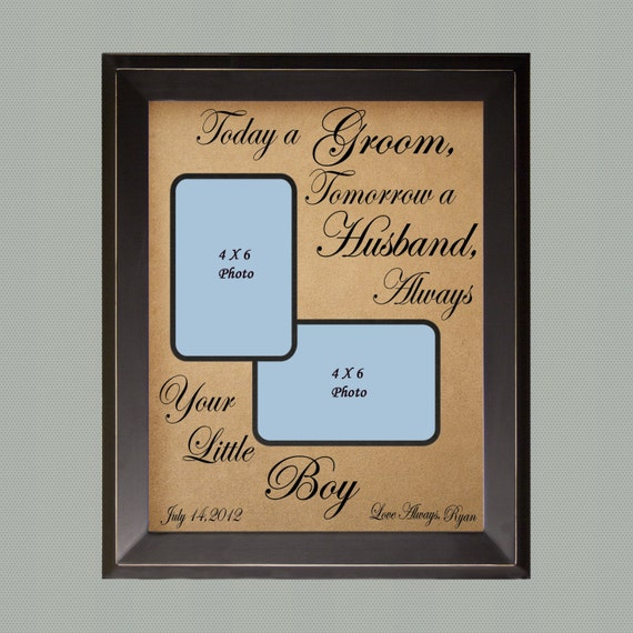 Engraved Wedding Gifts For Groom : ... Gifts Guest Books Portraits & Frames Wedding Favors All Gifts