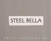 One Yard Steel Bella Cotton Solid Fabric from Moda, 9900 184