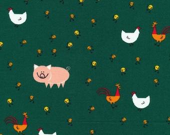 Half Yard Barnyard, Happy Drawing, Too, by Ed Emberley, 100% Organic Cotton, Cloud9 Fabrics