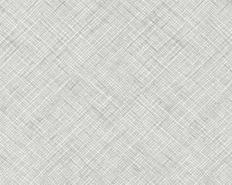 Half Yard Architextures Crosshatch in Grey, Carolyn Friedlander, Robert Kaufman Fabrics, 100% Cotton Fabric, AFR-13503-12 GREY