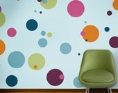 Polka Dot Wall Mural Stencil Kit for Girls or Baby Room (stl1015)