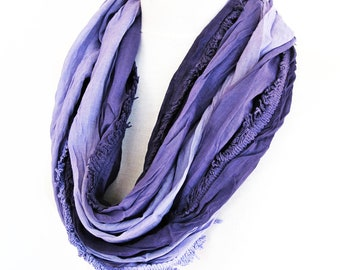Purple / Lilac Cotton Scarf, Long Scarf, Gift