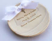 Godmother gift Christening Gift Personalized Baptism Bowl with sterling silver cross and your choice of ribbon NAS