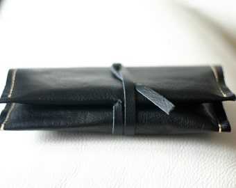 Leather tobacco pouch - Handmade tobacco pouch - leather tobacco holder - leather tobacco case