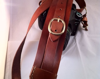 Handcrafted Leather Camera Sling Strap with BlackRapid hardware