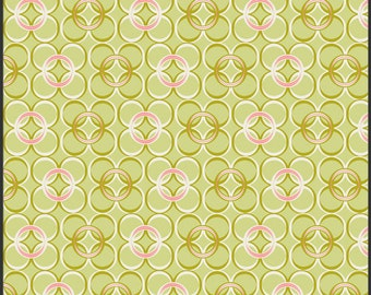 1 yard Art Gallery Fabrics Coquette Mod Ring Green