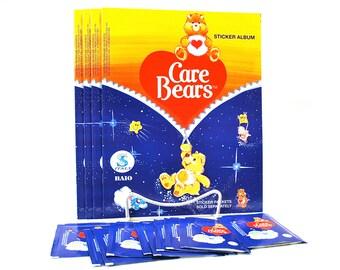 Care Bear Sticker Album & (10) Sticker Packs made by Baio