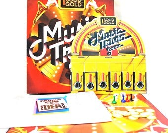 Solid Gold Music Trivia Game by Ideal Toys 1984