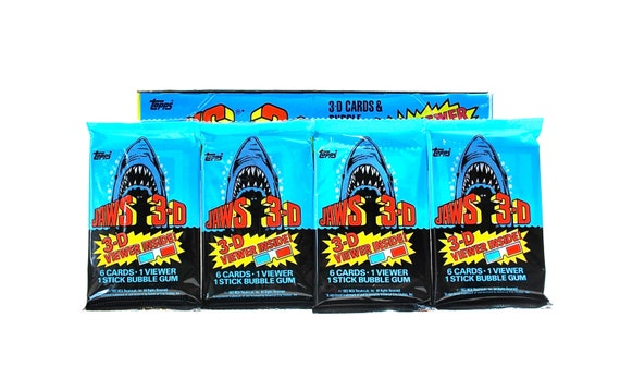 4 Jaws 3-D Trading Card Packs by Topps 1983