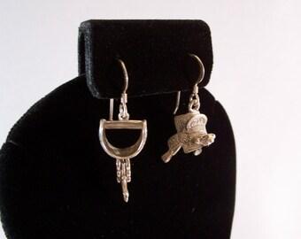 Southwestern Vintage Sterling Silver Dangle Earrings