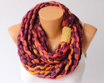 scarf, infinity chain scarf,  lariat  scarf,
