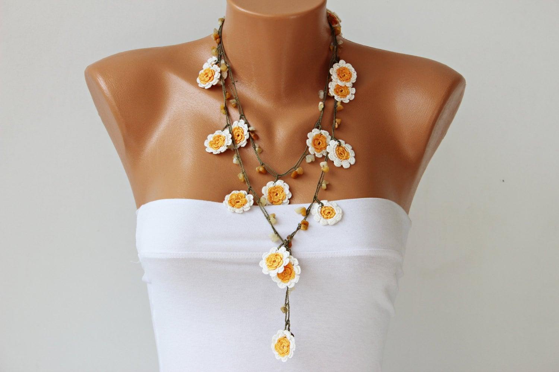 crochet bead necklace instructions