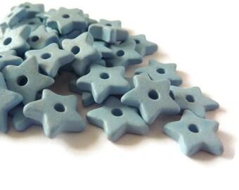 Light blueCeramic Star Beads - 30 pcs C 10 067