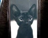 Black Kitten with Big Eyes, Big Ears & A BIG Heart Bookmark - 50 Percent Donation Item